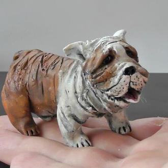 Статуэтка бульдога подарок коллекционеру собак