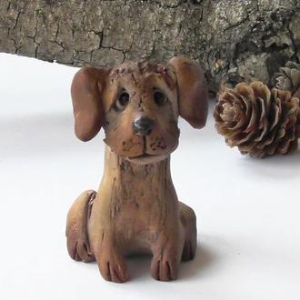 Собака керамическая фигурка в виде собаки
