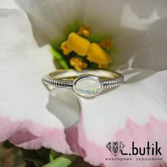 """Серебряное кольцо с опалом """"Нежное"""""""