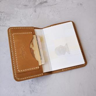 Кожаная обложка чехол на паспорт stedleу