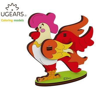 Деревянная раскраска Ugears «Петушок»