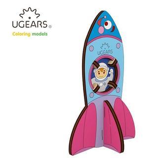 Деревянная раскраска Ugears «Ракета»