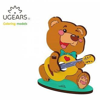 Деревянная раскраска Ugears «Медвежонок»