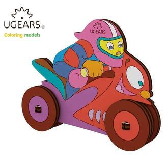 Деревянная раскраска Ugears «Мотоциклист»