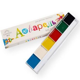 Краски акварельные медовые «Gearsy Art», набор из 6 цветов