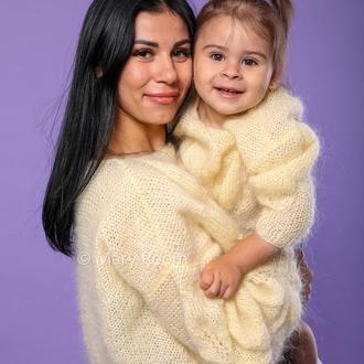 Джемпер в стиле Family Look женский и детский