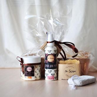Подарочный набор Крем для рук Баттер для тела Натуральное мыло Пемза