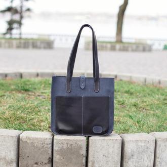 Женская кожаная сумка Милан, Шоппер из винтажной кожи