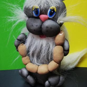 Кот из капрона интерьерная игрушка