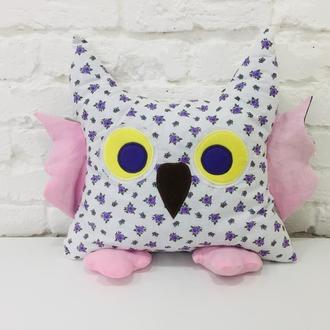 сова подушка -игрушка  сплюшка- игрушки для сна-подарки для девочек на день рожденья