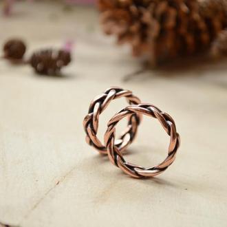 Витые обручальные кольца