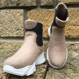 Валяные ботинки,сапожки