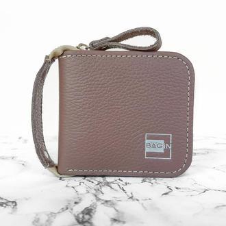 Удобный кожаный кошелёк для девушек. Женский кошелёк.Стильний шкіряний гаманець.