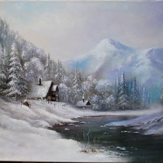 Картина художника Николая Климковича ,написана маслом в наличии 65х100 холст масло