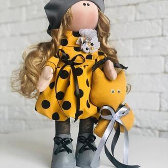 Кукла текстильная Ученица