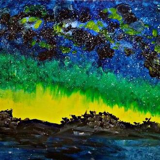 Млечный путь (картина масло/холст)