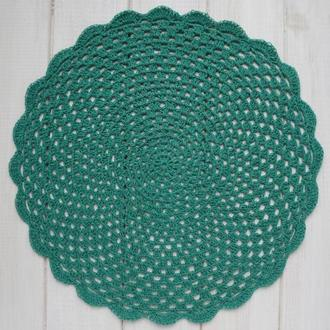 Подставка под горячее 30 см / подставка под тарелку / сервировочная салфетка вязаная крючком