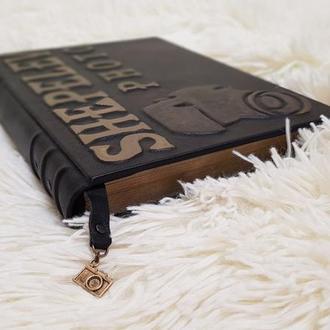 Кожаный блокнот с логотипом