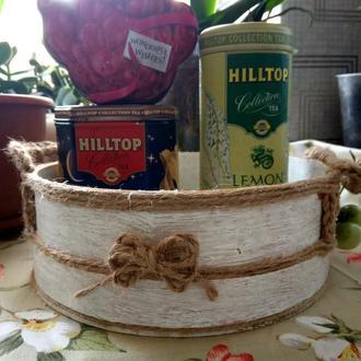 Корзина органайзер Винтажная корзина  Оригинальный подарок для женщины Декор для дома прованс