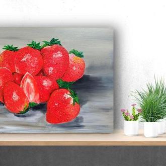 Картина маслом «Клубника», 40х50