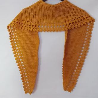 Осенний  женский шарф. Платок вязаный.Шарф под пальто.Жіночий шалик. Подарок женщине
