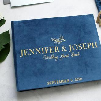 Синій велюровий альбом, Свадебный альбом, Годовщина свадьбы, Синий семейный альбом, Бумажная свадьба