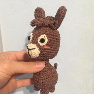 Лама  - игрушка вязанная, эко игрушка