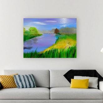 Картина маслом «Берег», 60х80