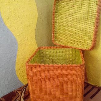 Плетёная корзина короб