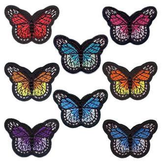 Вышитые нашивки на одежду Embroidery Бабочки набор №2 (68624)
