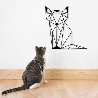 "Деревянная картина-панно "" Pretty cat"""