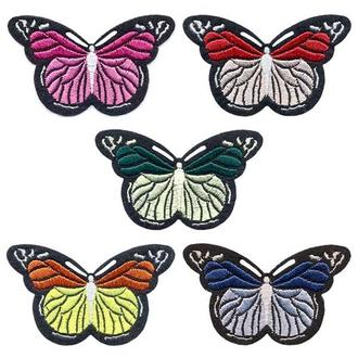 Вышитые нашивки на одежду Embroidery Бабочки набор №3 75х45 мм (68708)