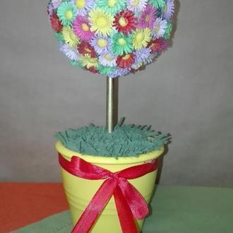 Цветочный топиарий - подарок на все случаи