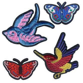 Модные нашивки Embroidery Птицы и бабочки набор №1 (67783)