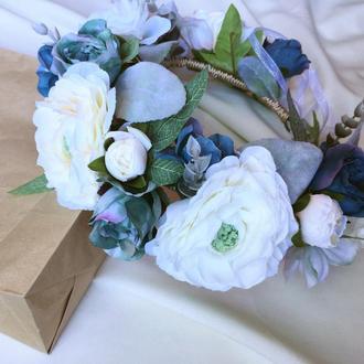 """Венок из цветов """"Воздушные розы"""""""
