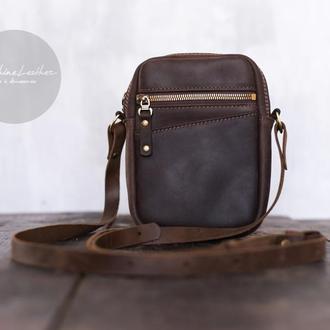 Маленькая мужская сумка через плечо MINI / Кроссбоди