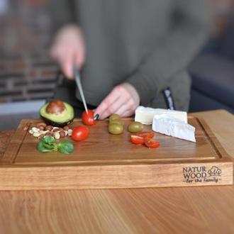 Деревянная кухонная доска Natur Wood для нарезки и подачи блюд