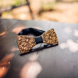Дерев'яна краватка-метелик . Подарунок для брата.  Дерев'яний аксесуар.