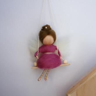 Сувенир подвеска маленькая Кукла Фея Ангел