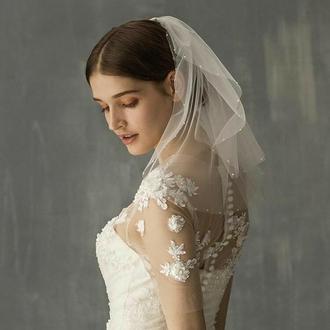 Свадебная фата, короткая.
