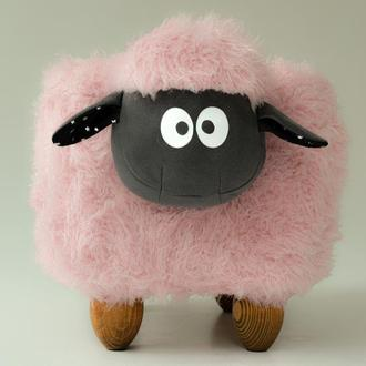 Детский пуф Барашек Шон Meblityt розовый 49х38х36