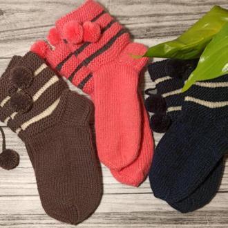 Набор вязаных носков для подарка - шерстяные носки в наборе