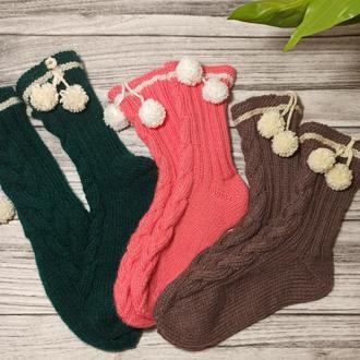 Набор вязаных носков - шерстяные носки для оригинального подарка или себе