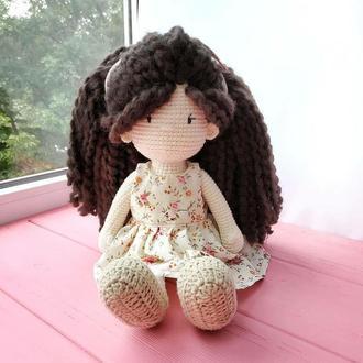 Кукла Сью. Вязаная кукла.