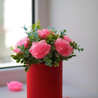 Букет из мыла (7 роз)