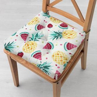 Водоотталкивающая подушка на стул с тефлоновым покрытием Time Textile Арбузики
