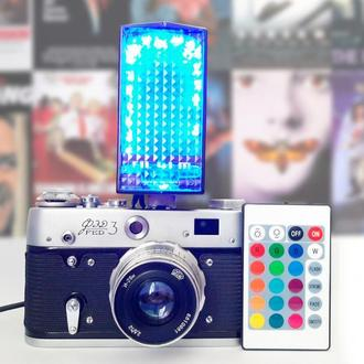 Настольная лампа из винтажного фотоаппарата FED 3
