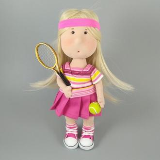 Інтер'єрна лялька тенісистка