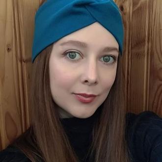 Пов'язка на голову чалма жіноча тюрбан вузлик для волосся