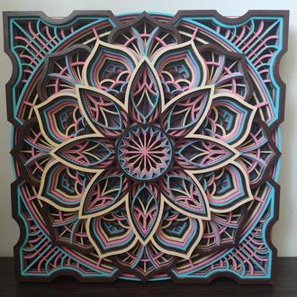 Многослойная картина из дерева, настенный декор md204